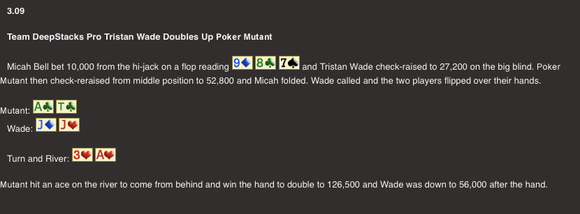 OSPC: Tristan Wade Doubles Up Poker Mutant