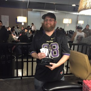 Brian Thorp, winner of the Final Table $100K Guarantee, October 24, 2015 (photo via Final Table Facebook page)