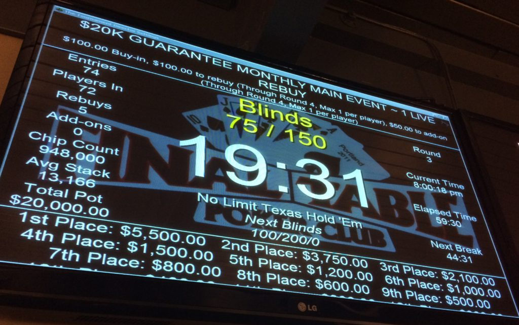 20160506 Final Table $20K
