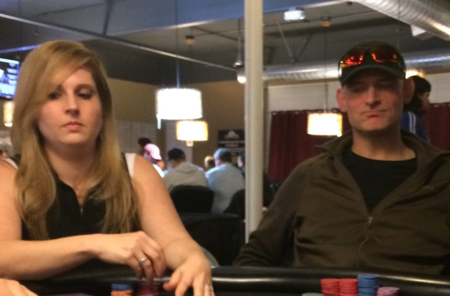Lisa Meredith and River Rich at the Final Table $10K.